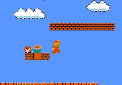 A game of Super Mario Bros.